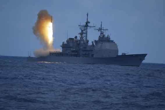 Rudal Aegis yang ditembakkan dari kapal AS