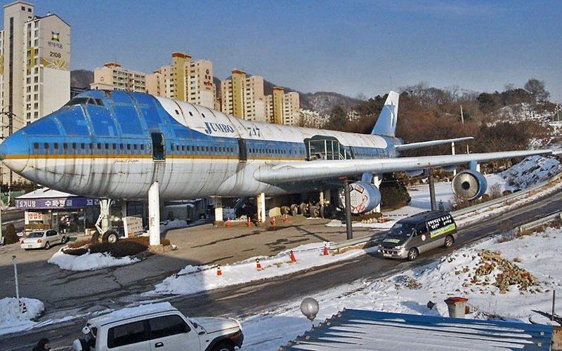 Di Korea Boeing 747 disulap jadi restoran