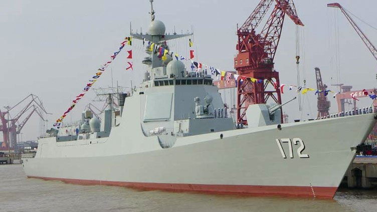 Kapal Perusak Dipandu Rudal Type 052D milik China