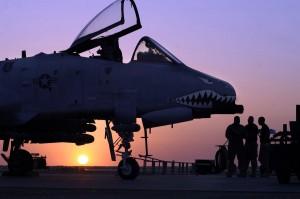 Sebuah A-10 Warthog di Pangkalan Al Asad Iraq.