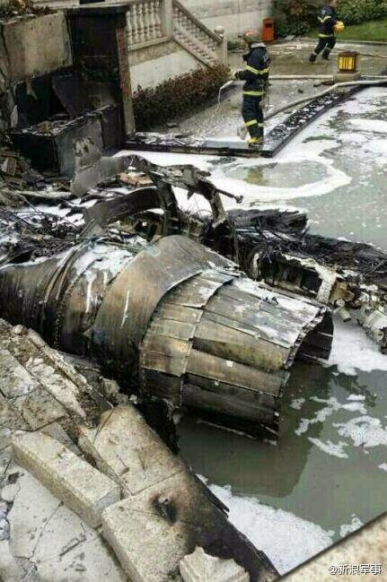 Chinese Chengdu J-10 crashes in  Sichuan province 1