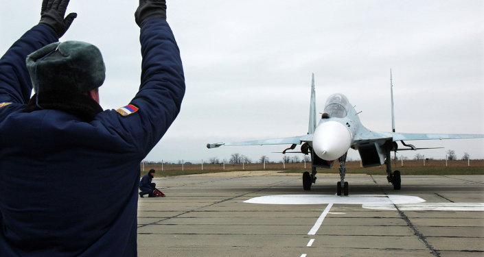 Jet Rusia yang tiba di Crimea