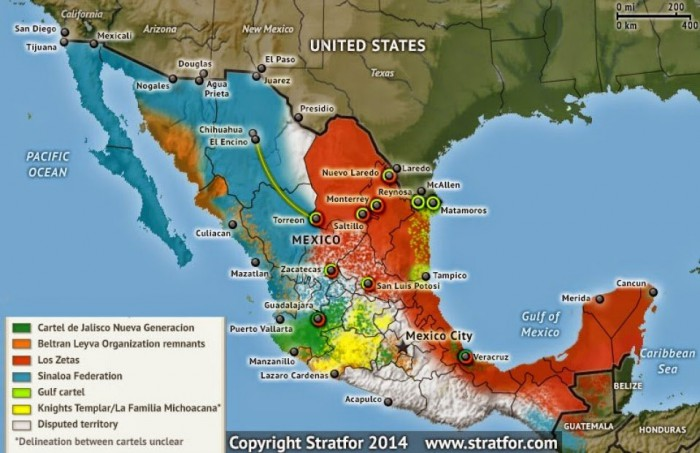 Wilayah Kekuasaan kartel narkoba Meksiko