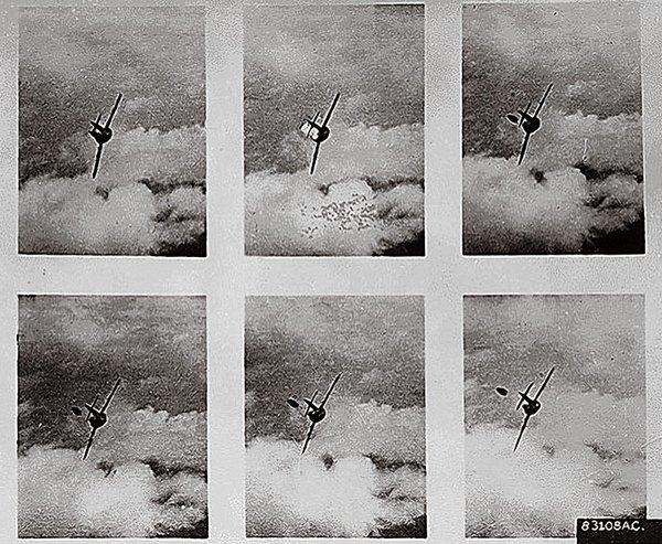 Kamera dari F-80 saat mengejar MiG-15 di Perang Korea