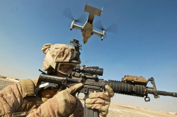 Marines on Post Security in Zaranj, Afghanistan