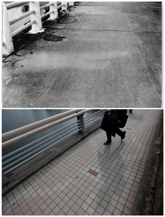 Di pusat Hiroshima, sebidang tanah dengan reruntuhan yang tersisa unrestored untuk mengenangtragedi itu.