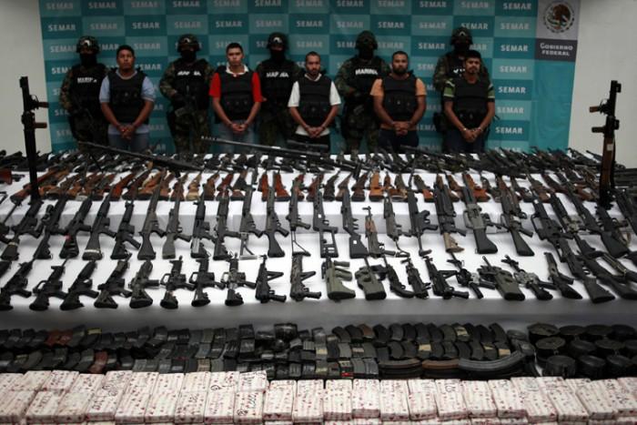 Senjata kartel narkoba yang ditangkap