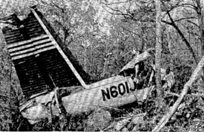 Pesawat yang ditumpangi Murphy jatuh