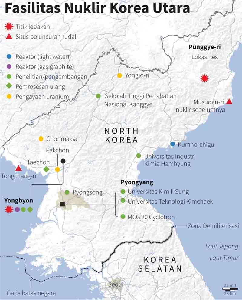 Inilah Peta Nuklir Korea Utara