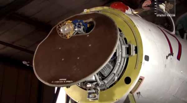 Mechanically Scanning radar on the Su-27