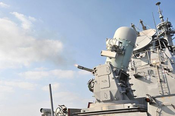 A phalanx close-in weapons system (CIWS)