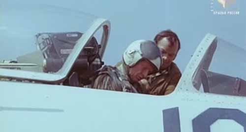 Vladimir Illushyn in the cockpit of the T-10