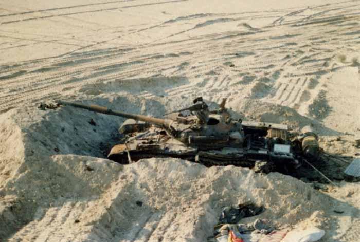 T-72 Irak yang hancur ini memberikan Anda sedikit gambaran tentang taktik.