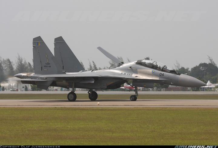 Su-30MKM dari Angkatan Udara Malaysia.