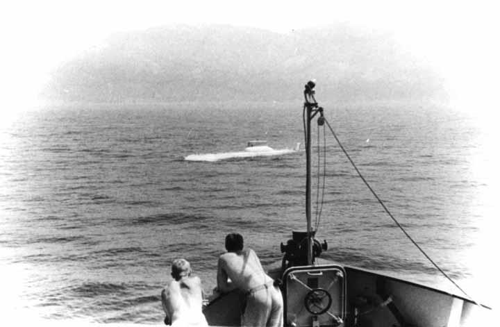 Model Typhoon 1:10 sedang diuji di laut sehingga kinerja ini desain ini diketahui sebelum dimasukkan ke dalam produksi.