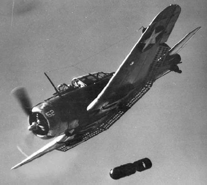 Dive bomber SBD Dauntless